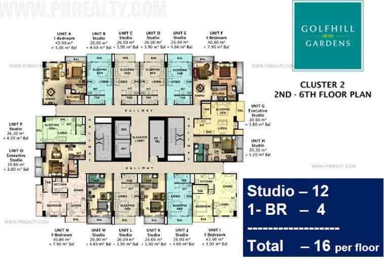 Golfhill Gardens - One Bed Floor Plan
