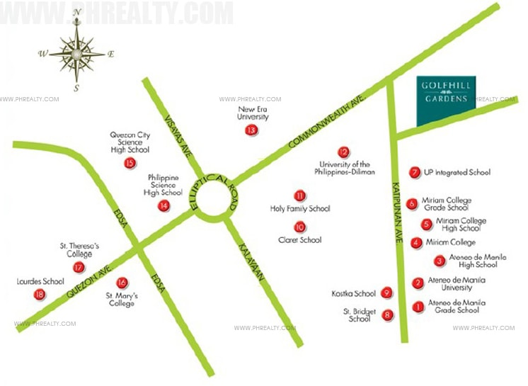 Golfhill Gardens - Location and Vicinity