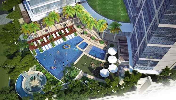 Uptown Parksuites - Ariel View of Pool