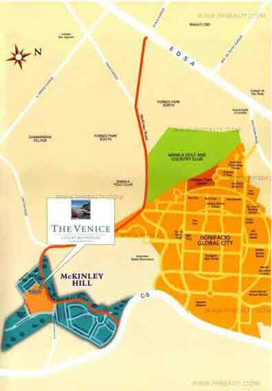 The Venice Luxury Residences - Location and Vicinity