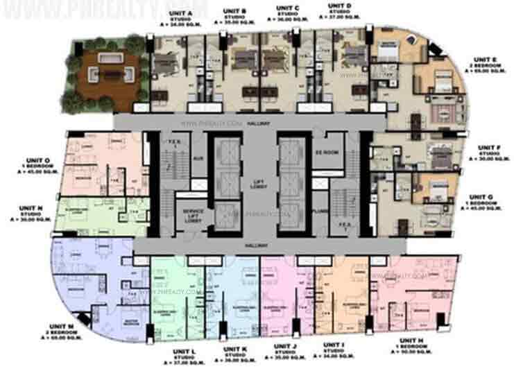 One Eastwood Avenue - 16, 36 Floor Plan
