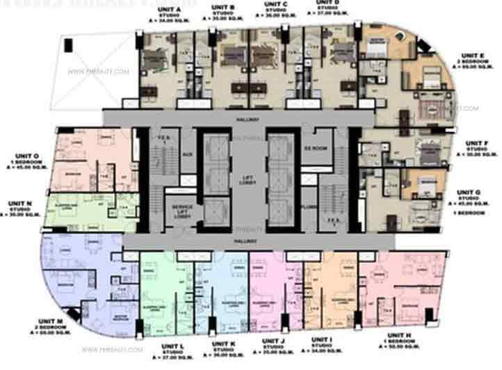 One Eastwood Avenue - 17, 18, 37, 38 Floor Plan