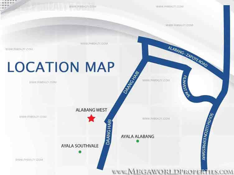 Alabang West - Location & Vicinity