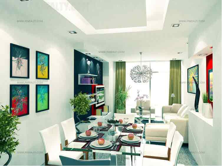 Three Central - Dining-Living Area