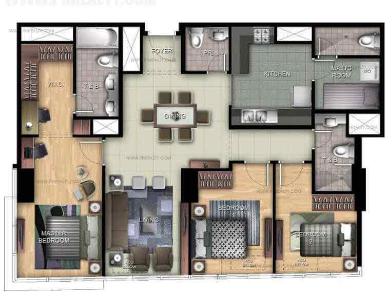Uptown Ritz Residence - 3 BR Unit