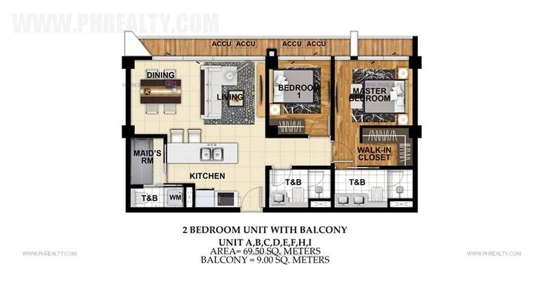 St. Moritz Private Estate - Unit A,B, C, D, E, F, H, I 2BR Unit