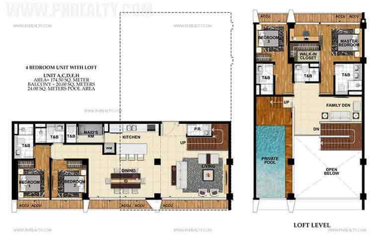 St. Moritz Private Estate - Unit A, C, D, E, H 4 BR Unit