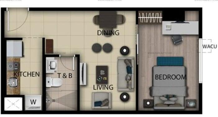 San Antonio Residences - 1 Bedroom Loft Unit